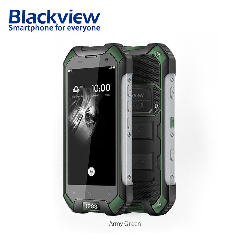 Blackview BV6000s 2GB 16GB Mobile Phone 4.7inch HD 4G Smartphone Android 7.0 Waterproof shockproof phone MT6735 Quad Core 4500mA