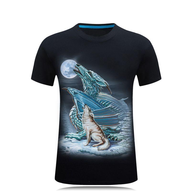 2019 été dernière haute qualité t-shirts hommes Compression chemise Fitness 3D t-shirt o-cou à manches courtes Crossfit homme hauts noirs