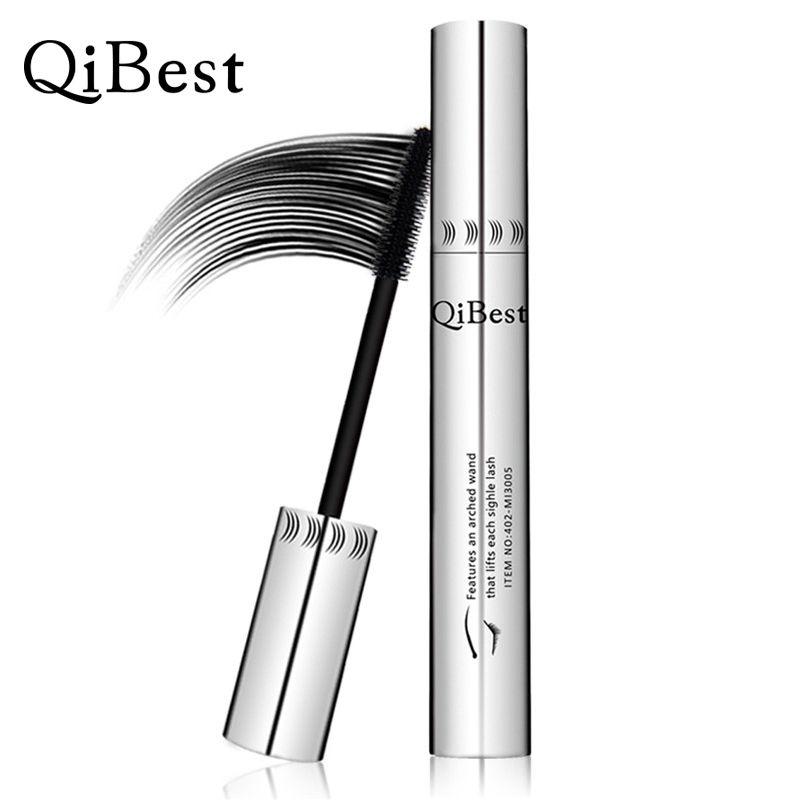Qibest Eye Mascara Volume Express falsche wimpern Wasserdicht Silikon Pinsel geschwungene verlängerung rimel 3D colossal mascara Q2504