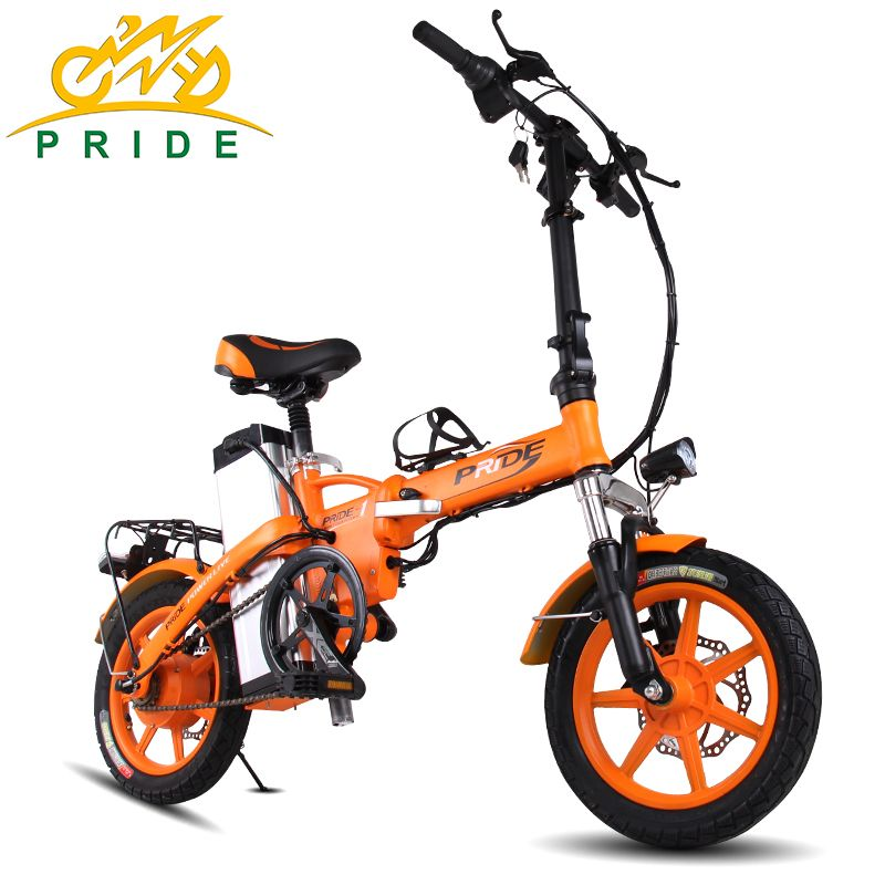 Pride 14 inch Aluminum Folding Electric Bike 48V23.4A Lithium Battery 350W with On behalf of the electric Bicycle e Scooter bike