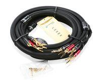 Choseal LB-5108 6N OCC Audiophile HIFI кабель колонки 24 К позолоченный банан + U штекер М 2,5 м не DIY (пара)