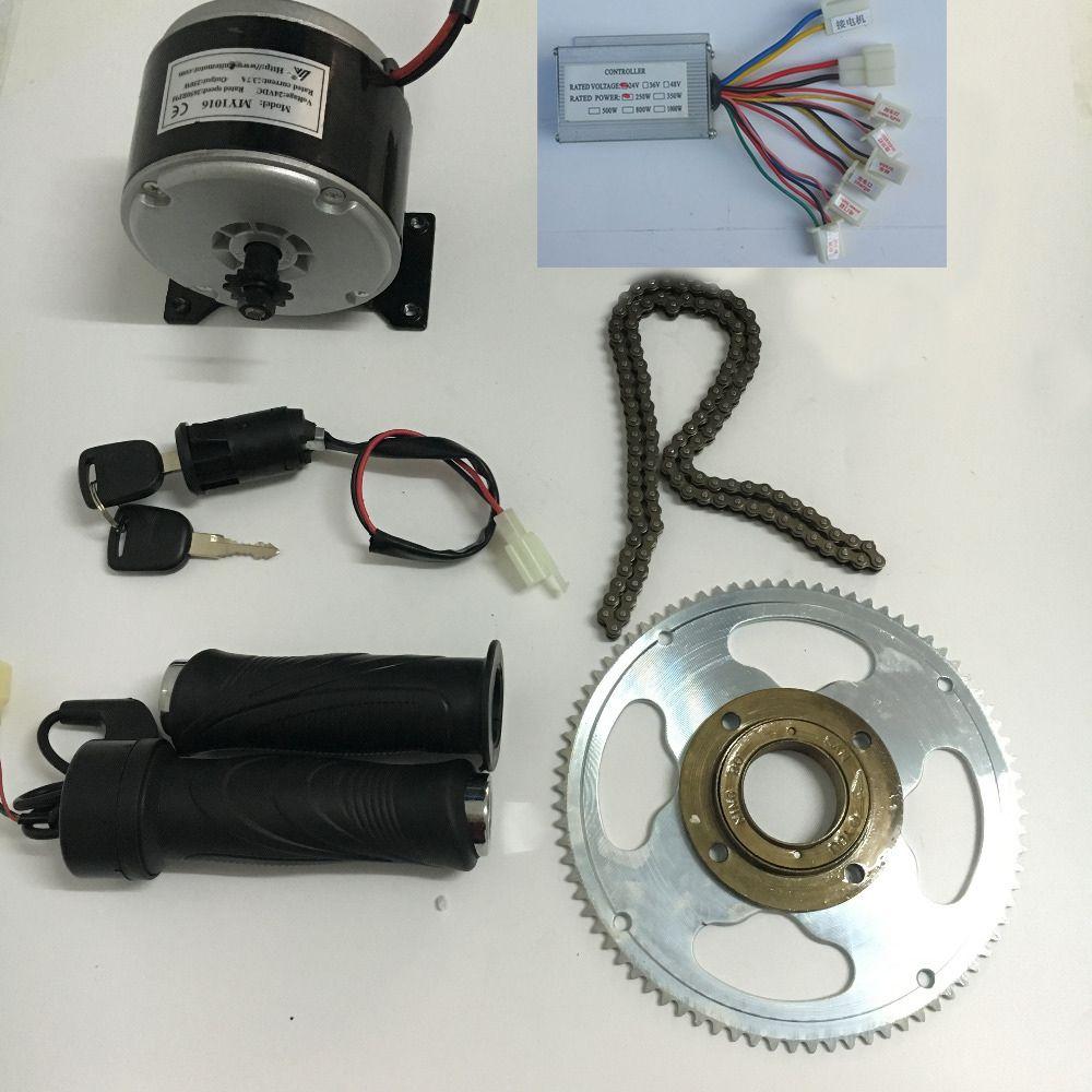24 V 250 Watt Elektroroller Fahrrad Riemenantrieb MY1016 High Speed Gürtel MOTOR 250 Watt elektroroller umbausatz