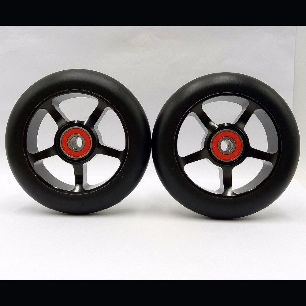2 roues Freestyle Stunt Scooter 100mm Roues Avec Haute élastique résistant à l'usure PU 608 ABEC-9 Roulements 88A Rouleau ski Roues