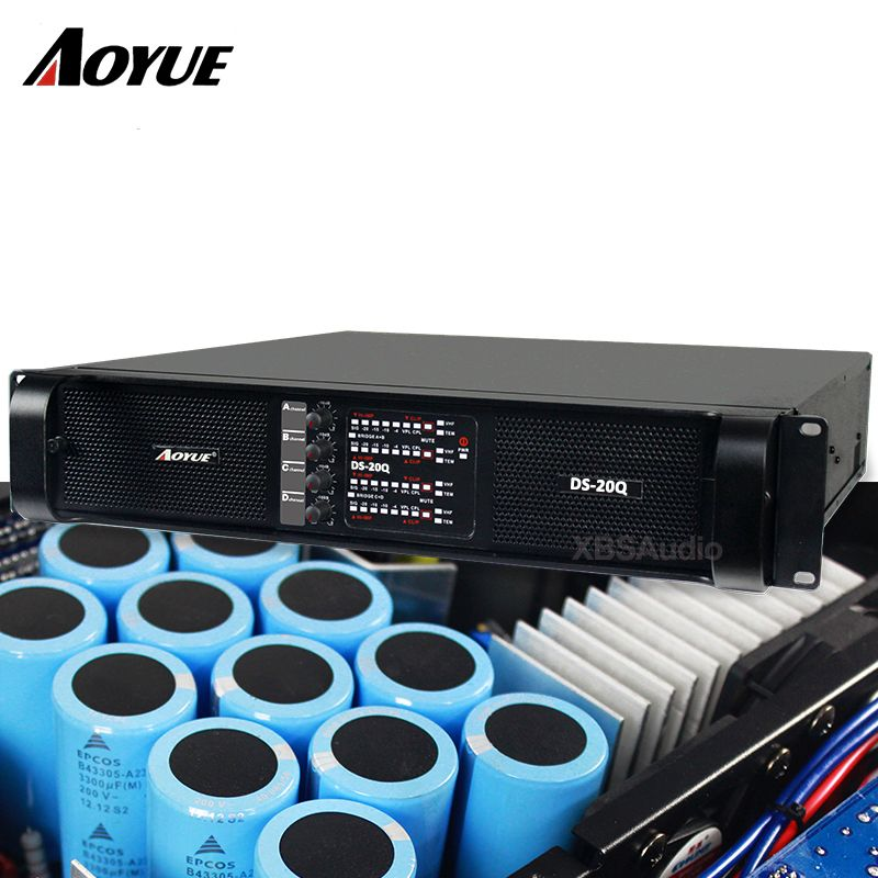 (Christmas promotion) 2018 newest high quality professional power amplifier 2200W*4 channels for subwoofer DS-20Q