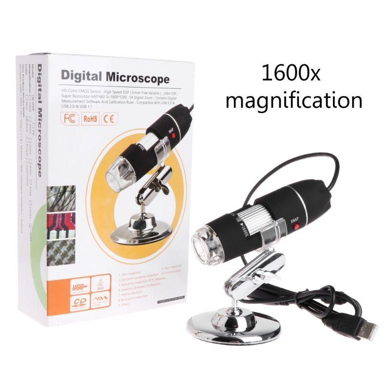 2019 haute qualité nouveau 1600X2 MP Zoom Microscope 8 LED USB numérique loupe Endoscope caméra