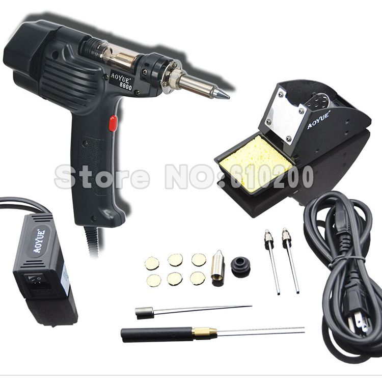 AOYUE 8800 Handheld Electric Vacuum Desoldering Pump Solder Sucker Gun Desoldering Gun Soldering Station for AOYUE 474A+ I474A++