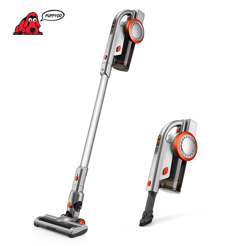 PUPPYOO Cordless Handheld&Stick Vacuum Cleaner Large Suction Wireless Aspirator for Home Lithium Battery A9