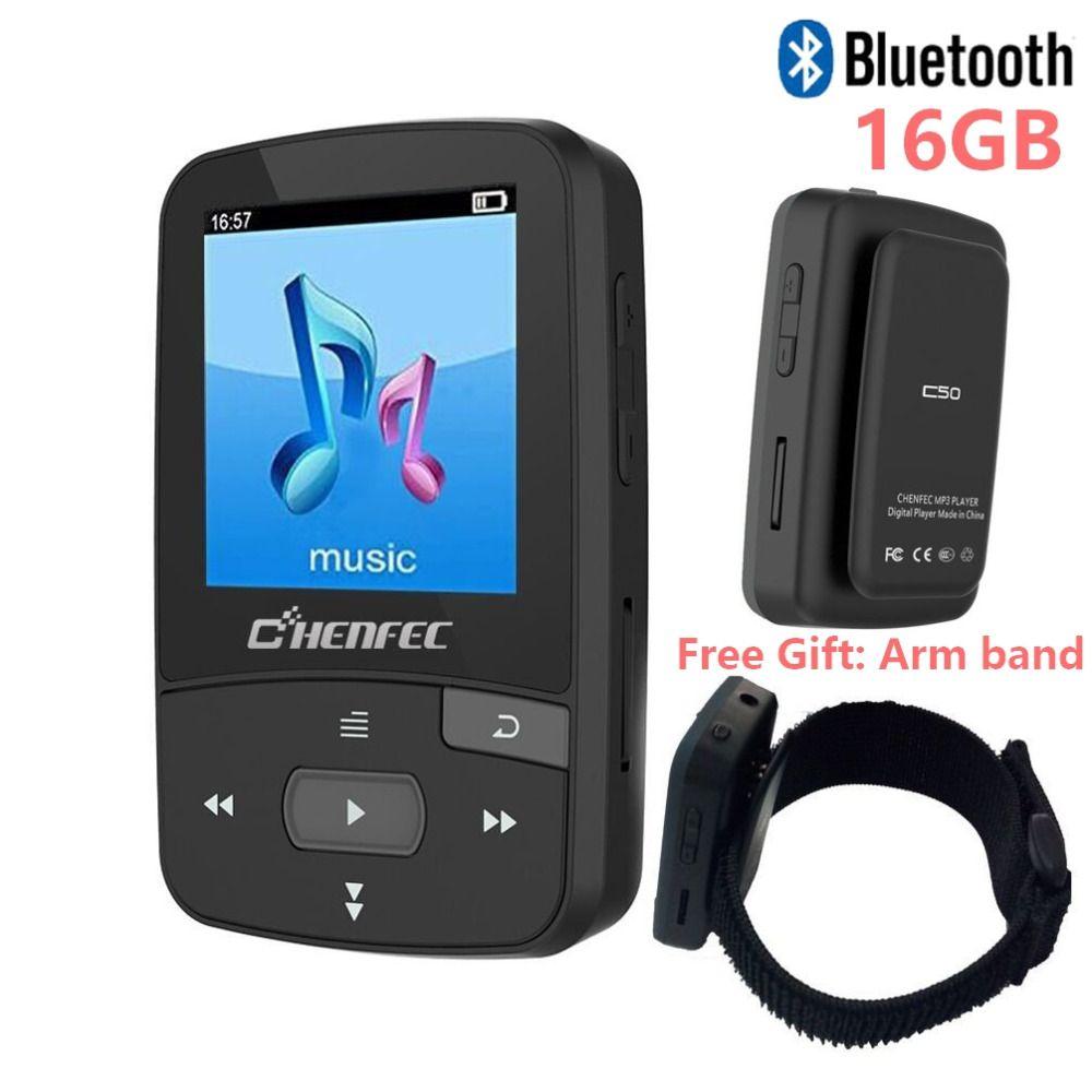 Original CHENFEC C50 Mini Clip Sport Bluetooth lecteur mp3 lecteur de musique Support TF carte, Radio FM, enregistrement, livre électronique, podomètre