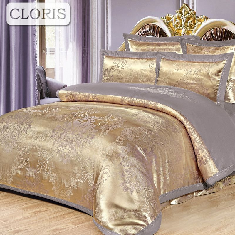 CLORIS Best Cotton Bedding Set Embroidery Bed Sheet Cover Sheet King Size Bedspreads Flower On The Bed Plaid Pillow Cases Duvet
