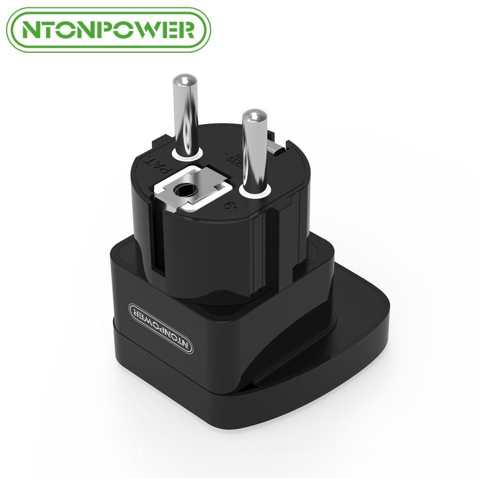 NTONPOWER UTA Universal Travel Adapter Europäischem Stecker Internationalen Steckdose Elektrische Verbinder mit Sicherheitsverschluss