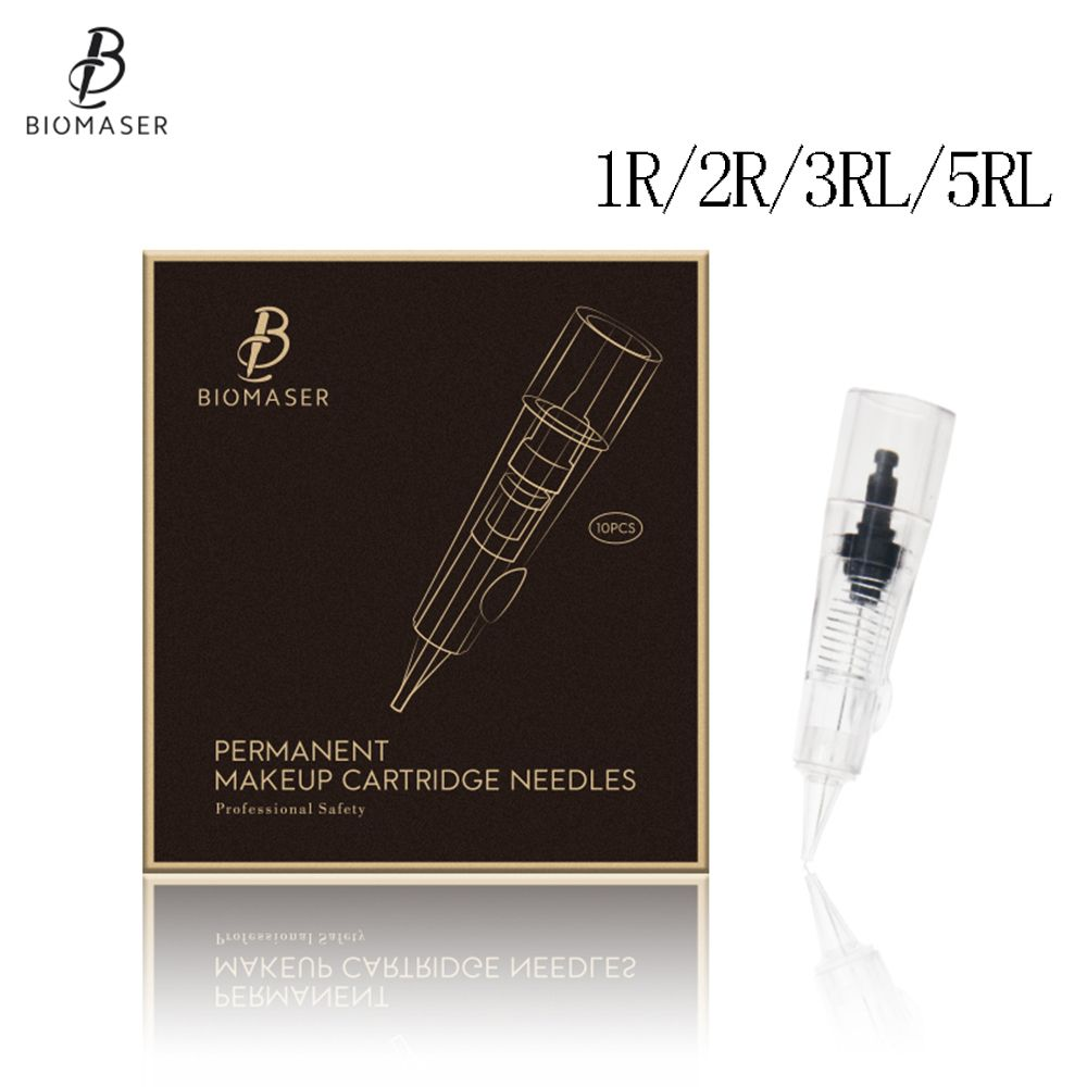 Biomaser Professional Permanent Makeup Cartridge Needles 1R/2R/3RL/5RL Disposable Sterilized Tattoo Pen Machine Needles Tips