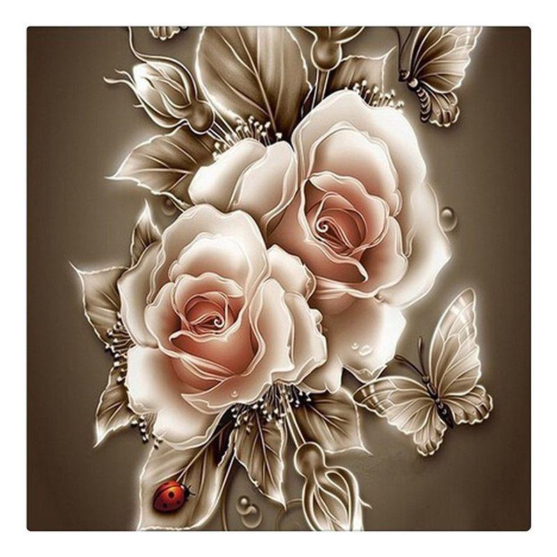 Стразами живопись кристалл Домашний декор поделки алмазов картина роза и Бабочка 3D вышивка крестиком узор алмаз вышивка B029 CX