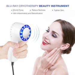 Blue-Ray Mesin Dingin Hammer Cryosurgery Es Penyembuhan Kulit Wajah Lifting Mengencangkan Mengecilkan Pori-pori Anti-Aging Wajah pijat