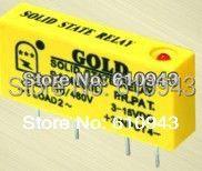 SAI4003D DC to AC 3A SSR input 3-15v or 15-28v output 40-480V Freeshipping PCB small solid state relay single-in-line
