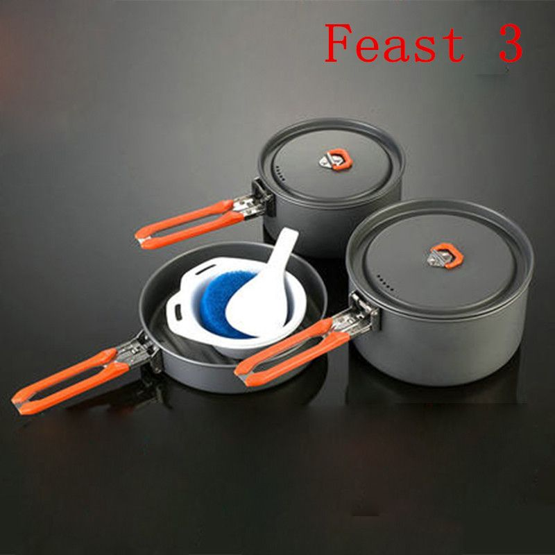 Fire-Maple Kettle Sets Outdoor Camping Cookware Backpacking Cooking Picnic Camping Pot Pan Bowl Set Feast 3 Free Shipping