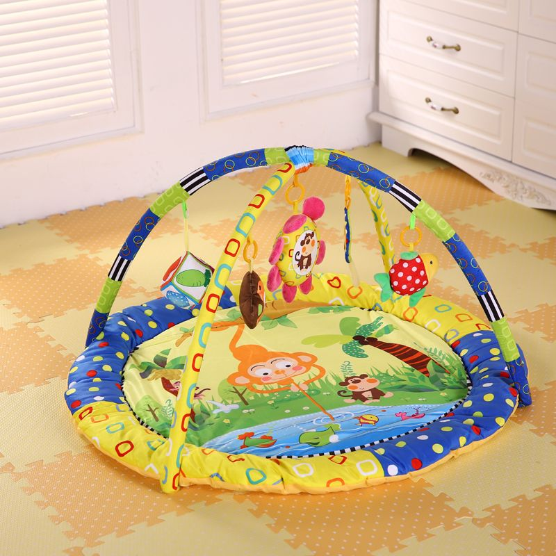 Cotton Play Gym Mat With Rack Baby Play Mats Newborns Carpet Soft Mat Game Blanket Pad Baby Speelkleed Toys Musical Crawling Mat