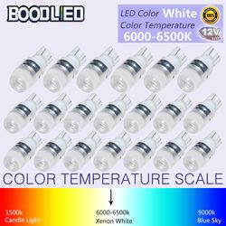 20pcs T10 LED T10 W5W 194 168 LED Bulb 12V White Lamp Auto LED Car Interior Light Wedge Door Reading Light Instrument Side Lamp