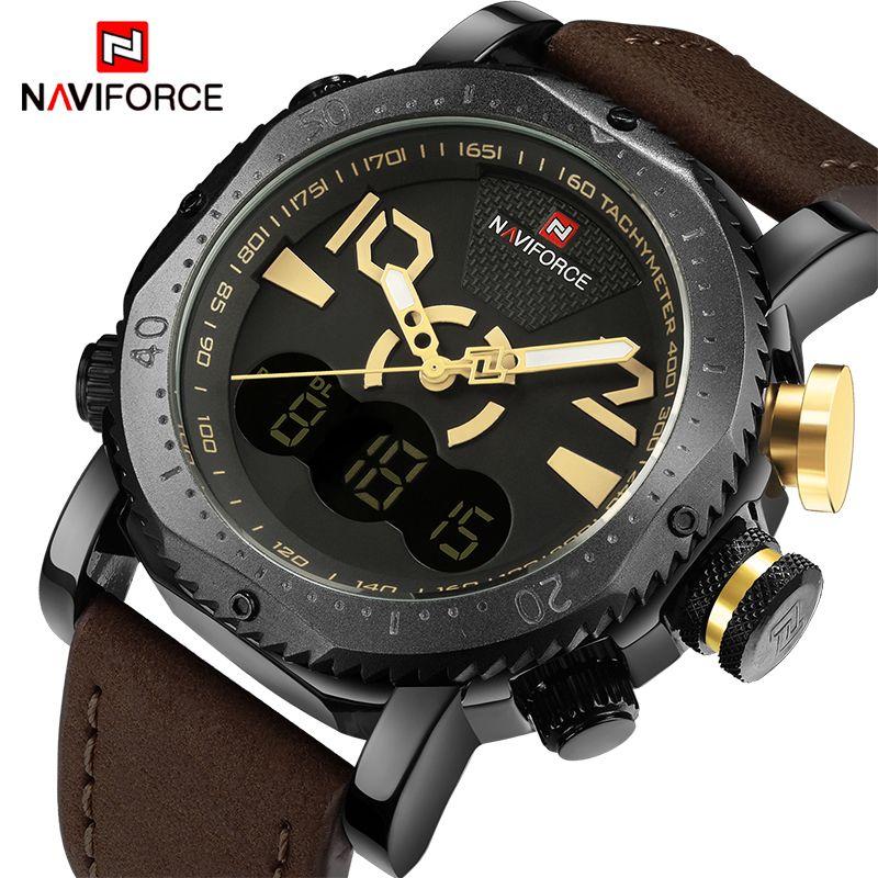 2017 Top Luxury Brand NAVIFORCE Men Sport Military Watches Men's Quartz Analog Digital Wrist Watch Man Clock Relogio Masculino