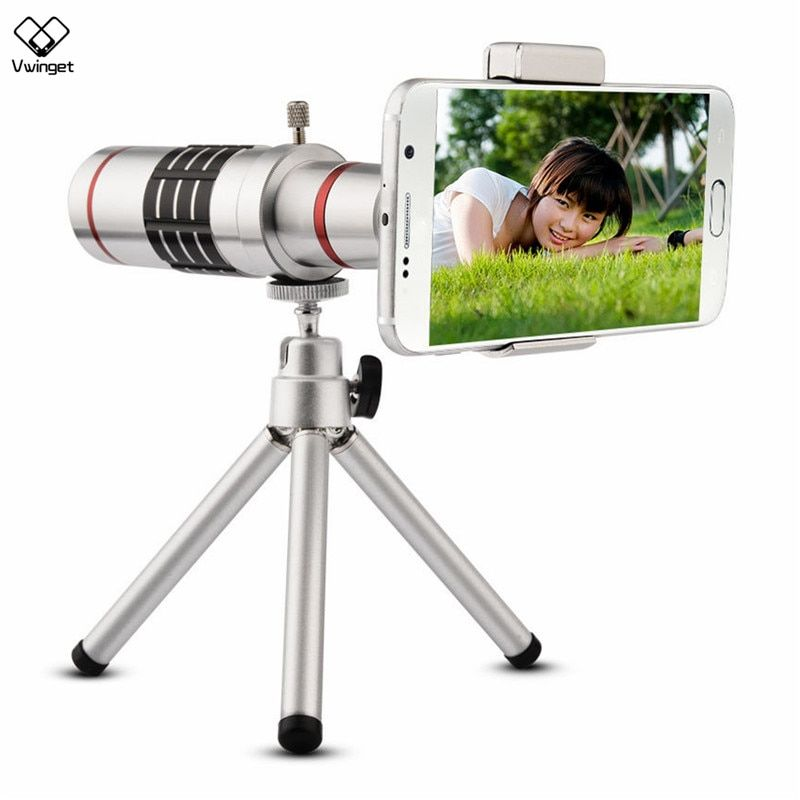 New Universal 18X Camera Zoom Optical Telescope With Mini Tripod For Smartphone IP SAM Note 2 3 4 5 galaxy S4 S5 S6 S7 edge