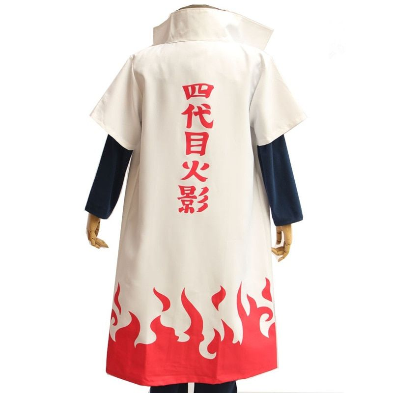 Anime Naruto Namikaze Minato Yondaime the 4th Hokage Cosplay Costume Halloween