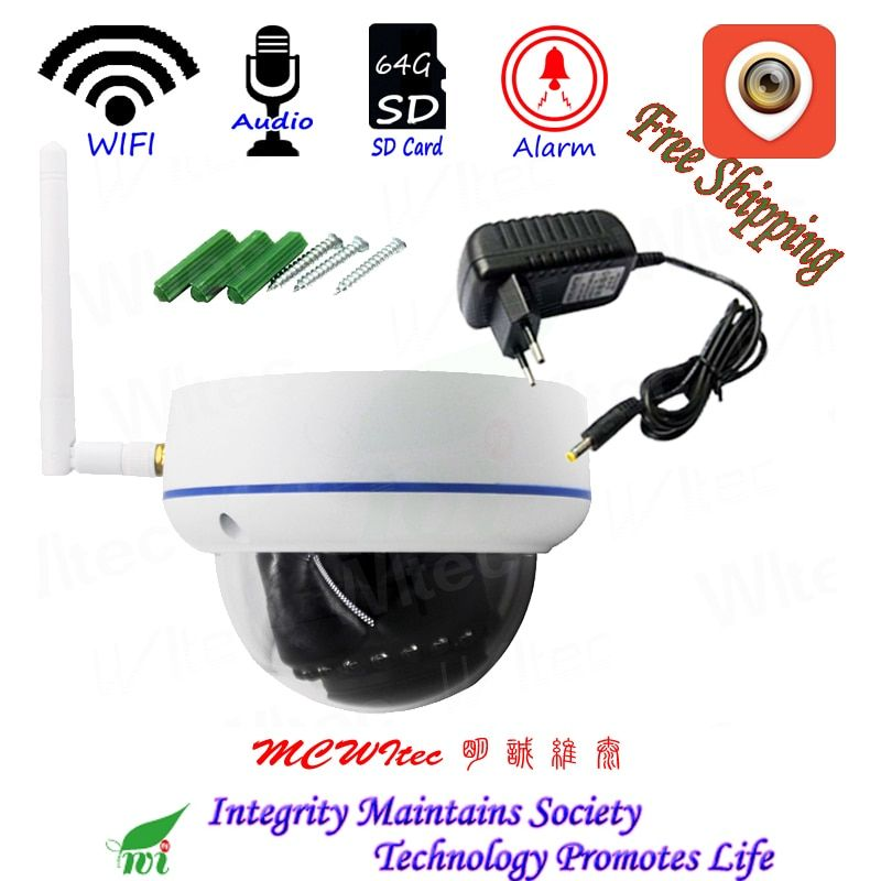 XMCSee WIFI 1080P IR Dome Vandal proof CCTV Cam RTSP Onvif SD Card IP Camera Motion Alarm P2P Mobile view Audio Reset IPC