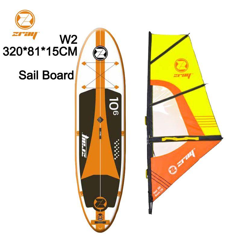 Segel bord SUP 320*81*15 Z RAY W2 breite aufblasbare stand up paddle board surf kajak sport boot bodyboard ruder windsail beiboot floß