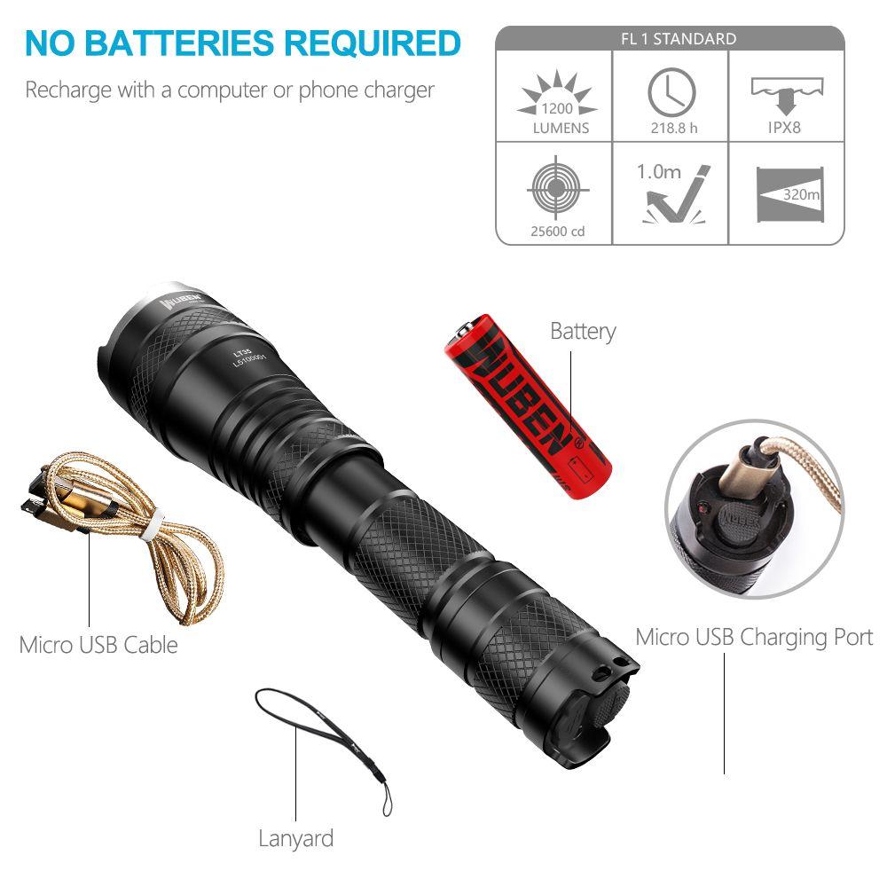 Светодиодный фонарик Масштабируемые тактический USB Перезаряжаемые Lanterna CREE XP-L2 1200 люмен мощный факел Водонепроницаемый Light 18650 Батарея