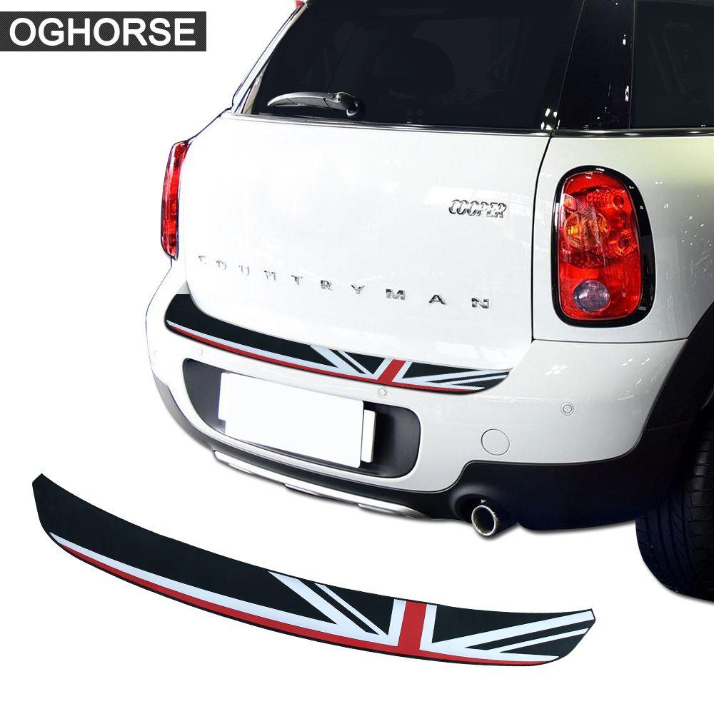 Union Jack Auto Hinten Stoßstange Gummi Rand Schutz Stamm Schutz Platte Trim Protector Aufkleber Für MINI Cooper S Countryman R60