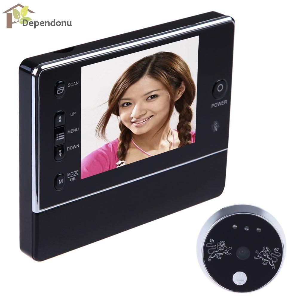 3.5 LCD Digital Wireless 120 Degree Doorbell Peephole Interfone Viewer Camera DVR Night Vision 3 X ZOOM LCD Display Door Bell