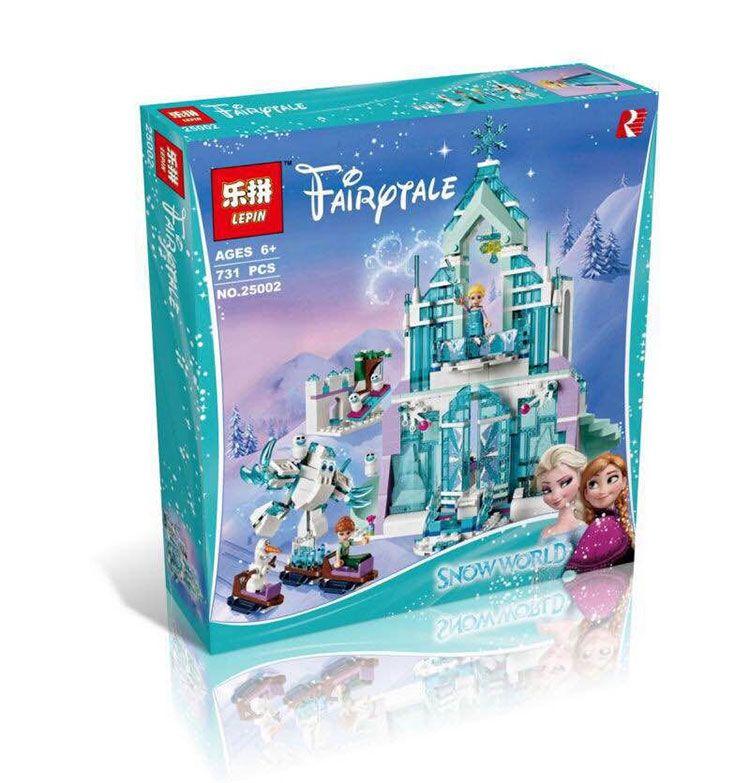Modélisme kits compatible avec lego city Magique d'elsa Château De Glace 3D blocs Éducatifs jouets loisirs pour enfants 25002
