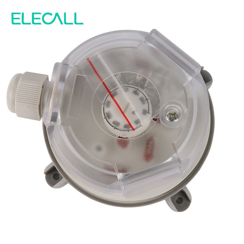 ELECALL 20-1000Pa Air Differential Pressure Switch Adjustable Micro Pressure Air Switch High Quality