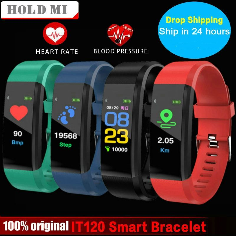 Smart Bracelet Hold Mi IT120 VS ID115 PLUS Sports Color Screen Smart Band Heart Rate <font><b>Monitor</b></font> Fitness Tracker for IOS Android
