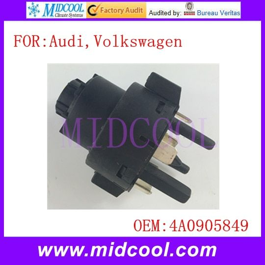 New Ignition Switch use OE NO. 4A0905849 for VW Volkswagen Audi