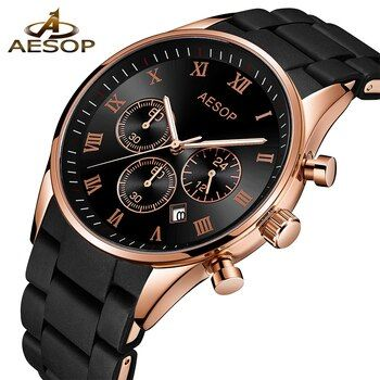 AESOP Original Watch Men Sport Quartz Men Watches Chronograph Wrist Watch Relogio Time Hour Clock Reloj Hombre Mens Watches