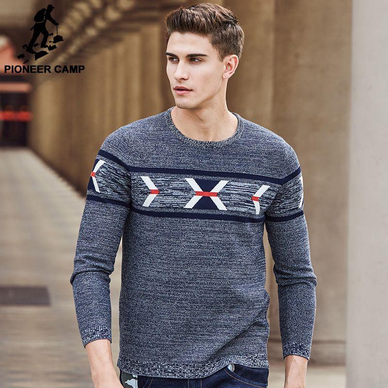 Пионерский лагерь Новое поступление бренд свитер мужчин наивысшего качества Модные мужские пуловеры, свитеры повседневные Вязаные свитер...