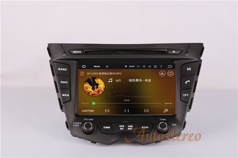 7 Inch Android 7.1 Car DVD Player Radio GPS Automedia Headunit for HYUNDAI Veloster 2011-2015 Auto Stereo Satnav Unit