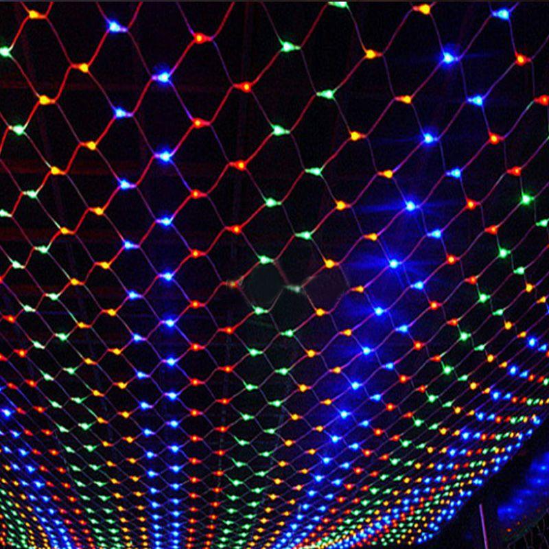 220V Multicolour 200LEDS 3m*2m LED Net String Xmas Cristmas Decoration Lights Free Shipping