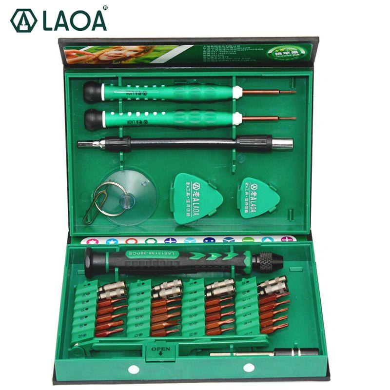 LAOA 38 in 1 <font><b>Precision</b></font> Screwdriver Set Laptop Mobile phone Repair Tools Kit Precise Screwdrivers Hand tools