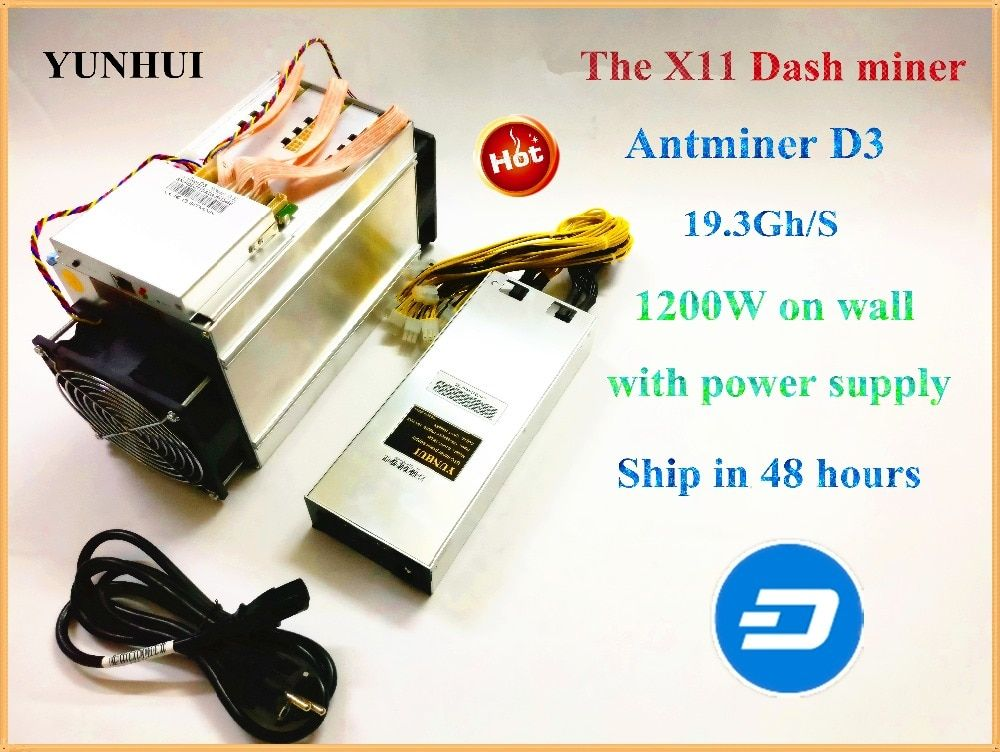 Bitmain Dash Miner Antminer D3 19.3 GH/S With PSU 1800W Hashing Algorithm X11 D3 Dash Miner