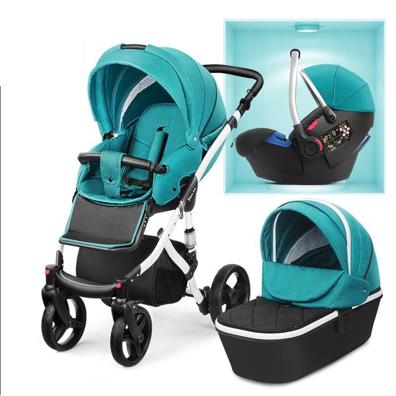 2018 New baby cart Can sit and lie down Two-way suspension Baby carriage Free shipping in Russia