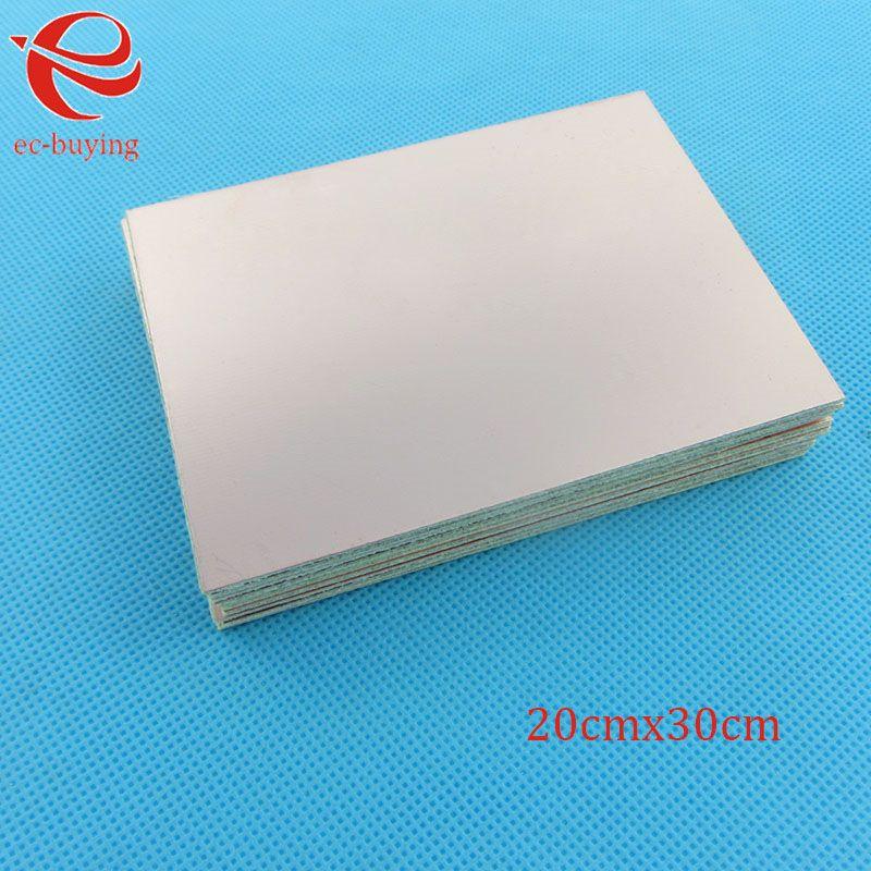 5 teile/los Kupferkaschierte Laminat Einem Einzigen Seitenplatte CCL 20x30 cm 1,5mm FR-4 Universalboard Praxis PCB DIY Kit 200*300*1,5mm