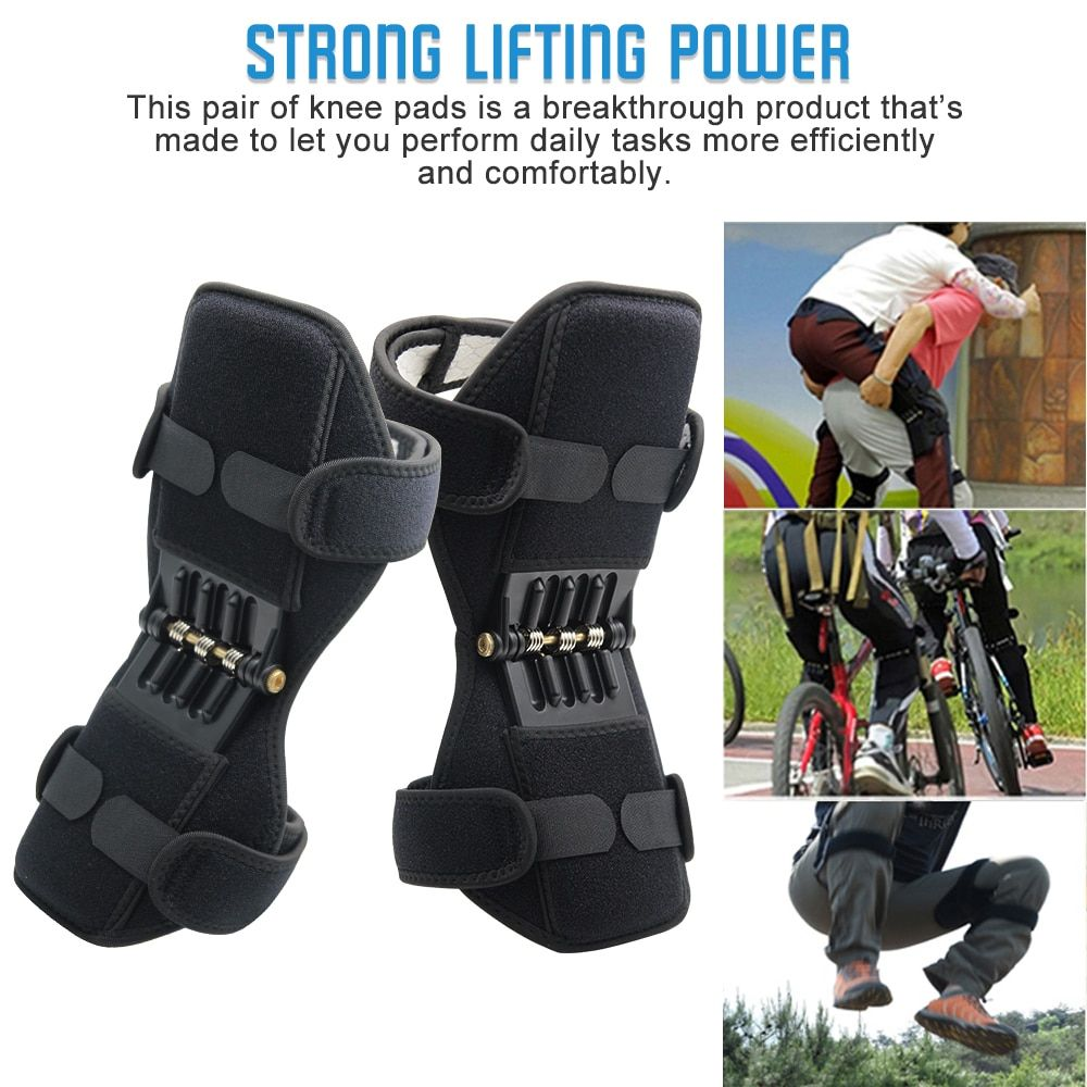 Aptoco Breathable Non-slip Joint Support Knee Pads Lift Knee Pads Care Powerful Rebound Spring Force Knee Booster VIP LINK