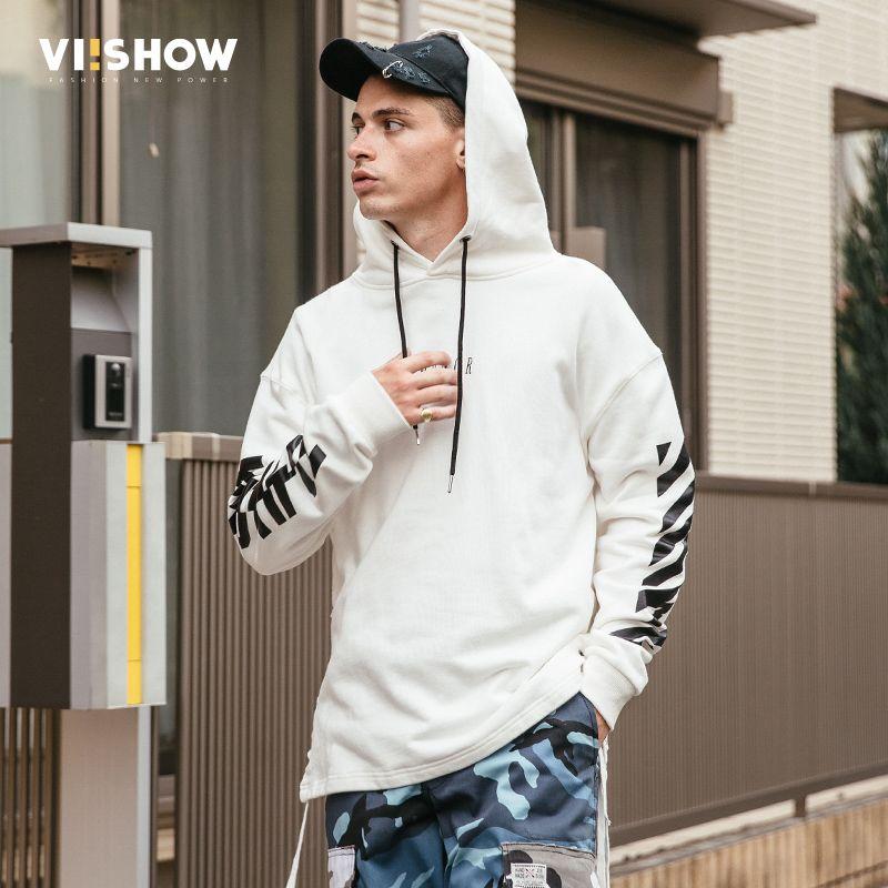 VIISHOW New White Hoodie Men Brand 2017 Autumn Men Hoodies Solid Sling Male Sweatshirt Fashion Tracksuit Slim Clothing WD2014173