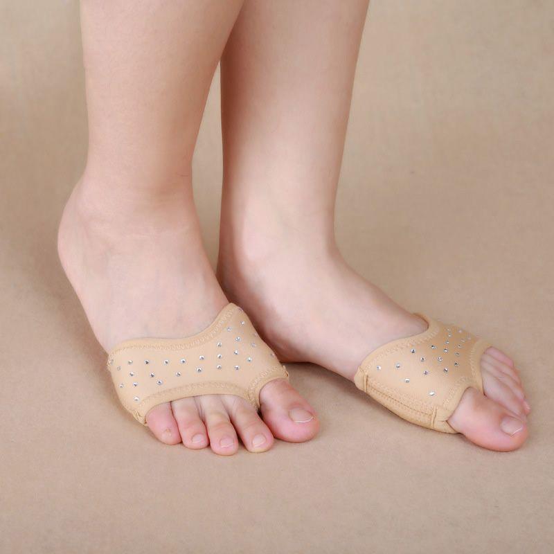 Profesional a Estrenar Foot thong Planos del Ballet de la Danza Del Vientre Con Cuentas de Baile Calcetines Dedo Del Pie Del Zapato Nude