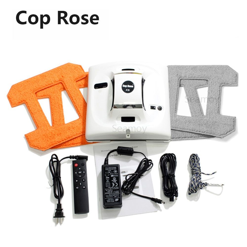 COP ROSE X6 Window Cleaning Robot X6, Magnetic Vacuum Cleaner, Anti-falling,Remote Control, Auto Glass Washing, 3 Working Modes