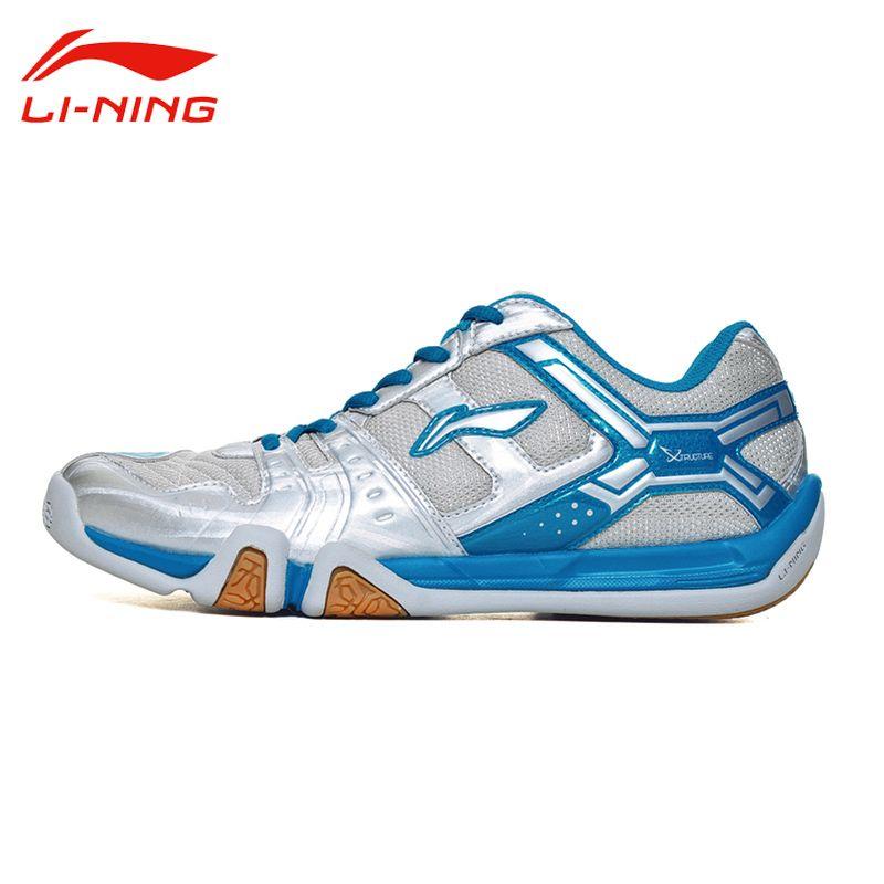 Li Ning frauen Atmungsaktive Saga Licht TD Badminton Schuhe Anti-Slip FUTTER Strapazierfähig Unterstützung Turnschuhe Sportschuhe AYTM076