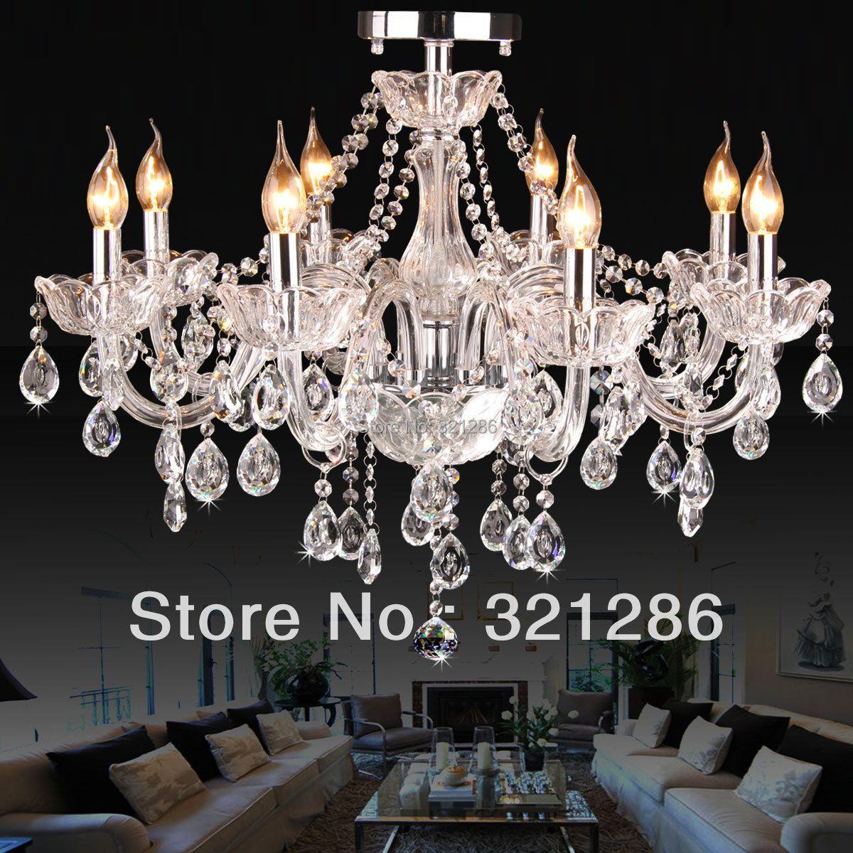 6/8 arms Fashion crystal k9 chandelier bedroom lights living room crystal chandelier light led bedroom candiles de cristal chan