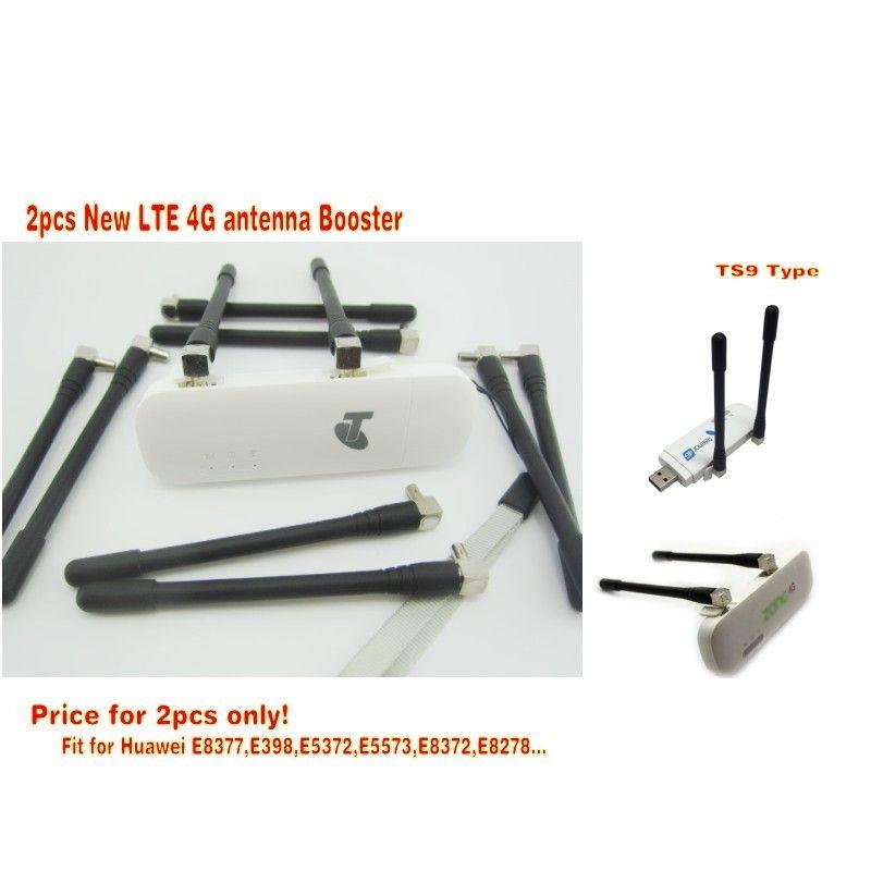 2 unids Nueva LTE 4G antena Booster para Huawei E5372 E8377 E8372 E5577 E5573 4G LTE Antena TS9 conector envío libre