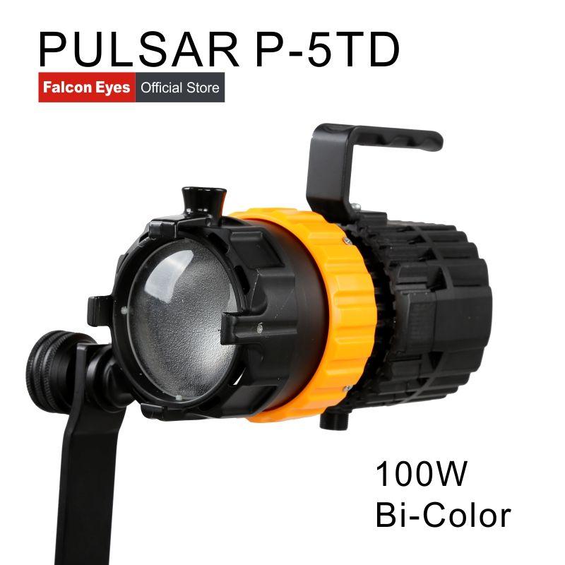 Falcon Eyes Mini Spot Licht 100 Watt Fotografie Licht Einstellbarer Fokus Länge Füllen Licht Pulsar 5 P-5TD
