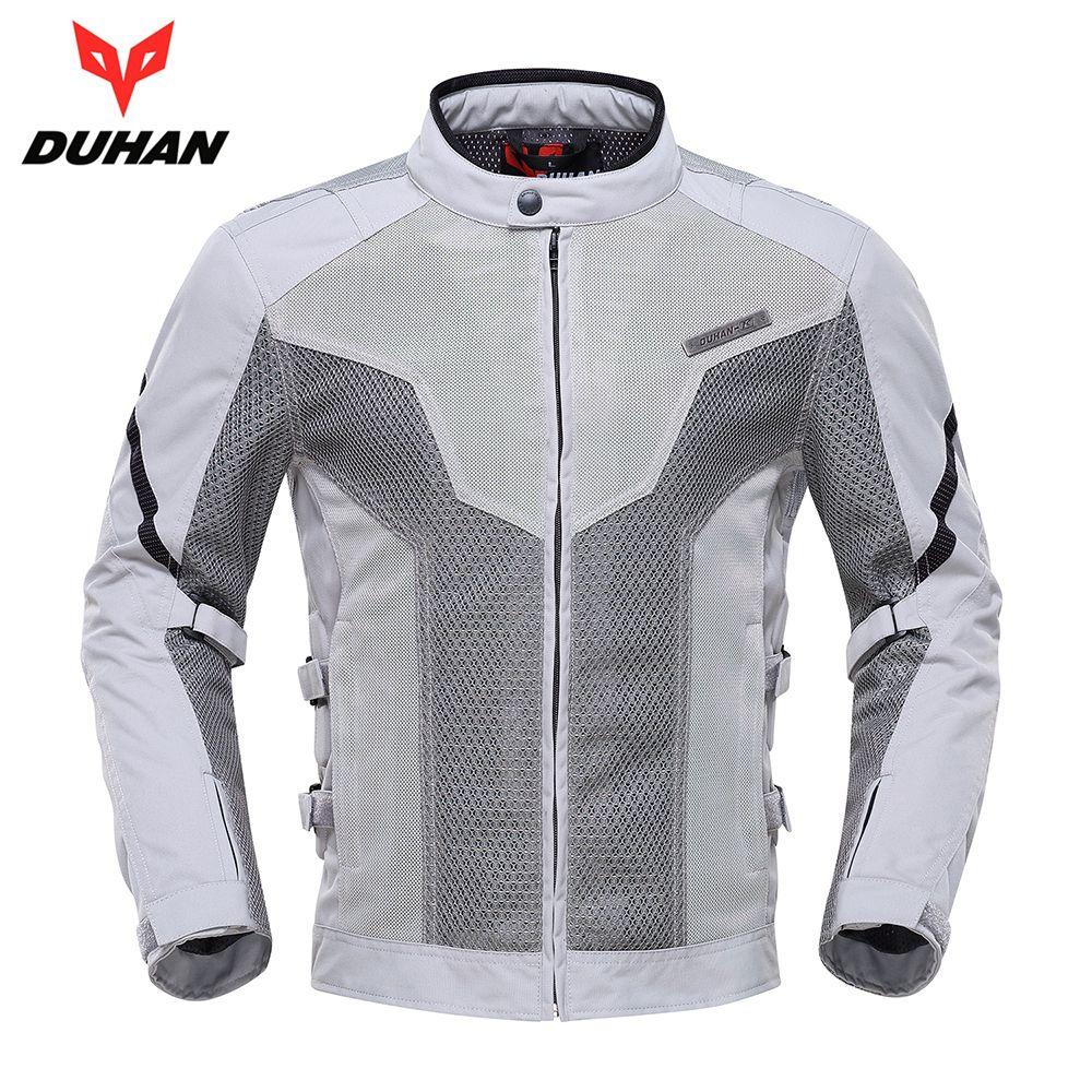 DUHAN Motorcycle Jacket Spring Summer Moto Jacket Motocross Riding Clothing Breathable Motorcycle Jacket Men Protective Gear